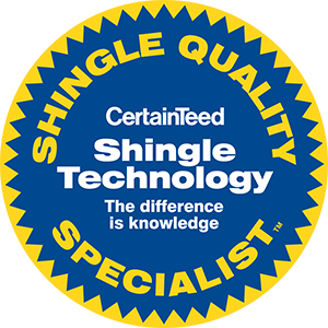 CertainTeed Shingle Quality Specialist Badge.